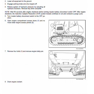 New Holland D125c Tier 2 Crawler Dozer Service Manual