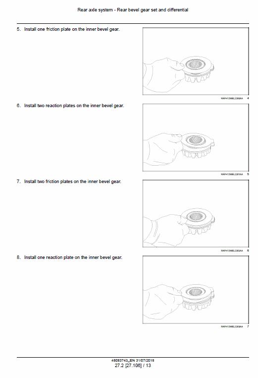 New Holland W110d Tier 2 Wheel Loader Service Manual