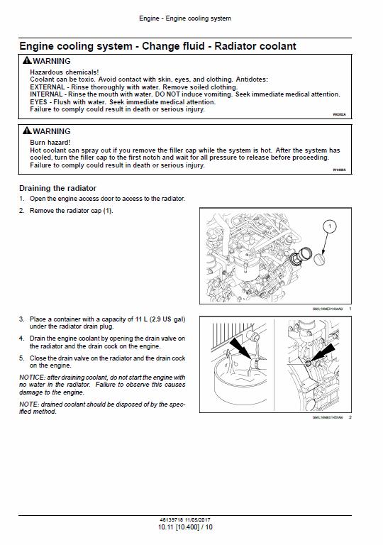 New Holland E33c Mini Excavator Service Manual
