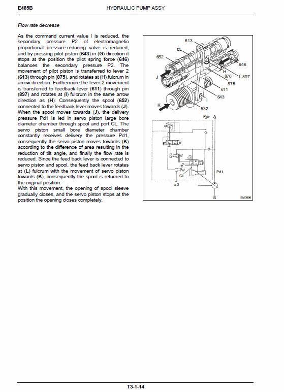 New Holland E485b Rops Excavator Service Manual