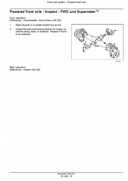 New Holland Boomer 3040, 3045 And 3050 Tractor Service Manual