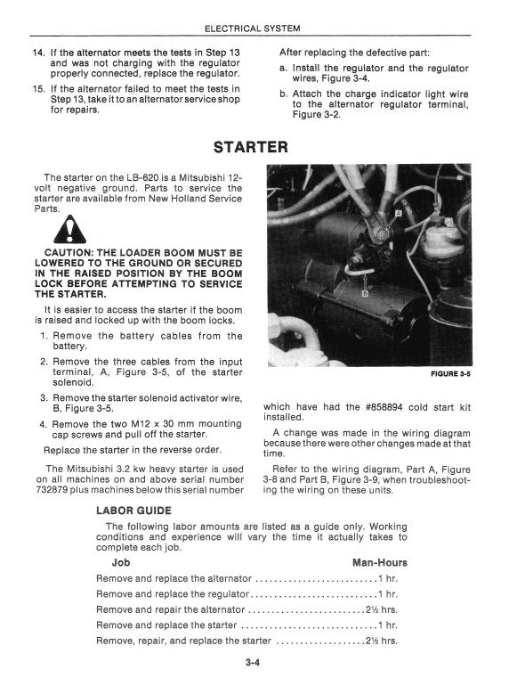 New Holland Lb620 Backhoe Loader Service Manual