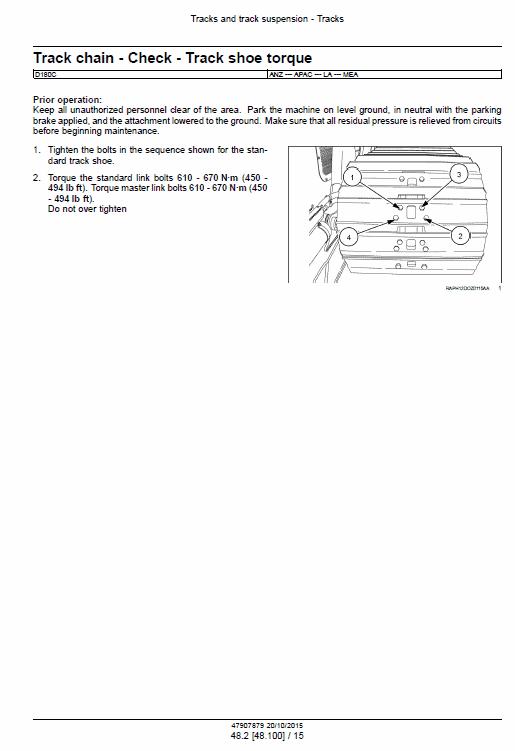 New Holland D180c Tier 2 & Tier 3 & Tier 3 Dozer Service Manual