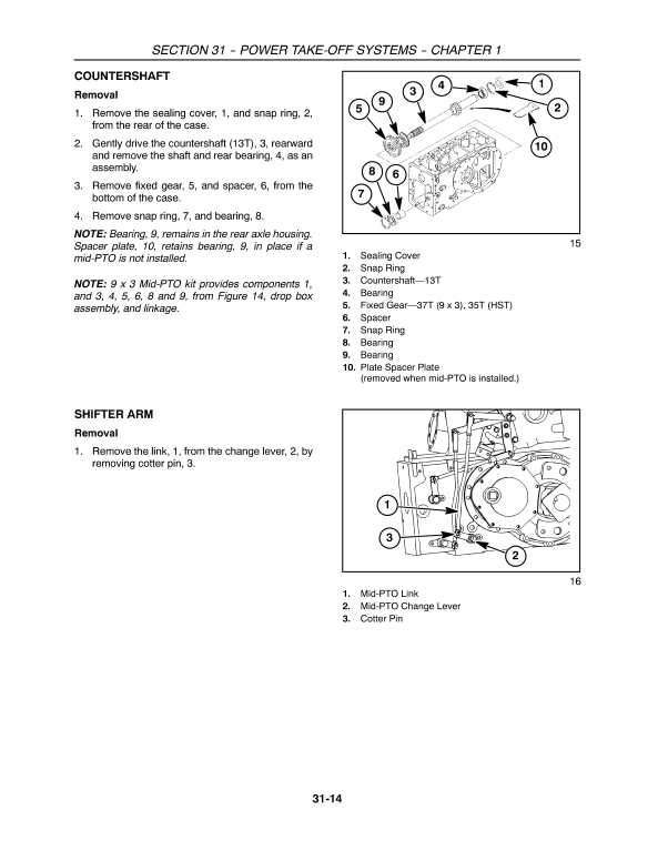 New Holland T2210, T2220 Tractor Service Manual