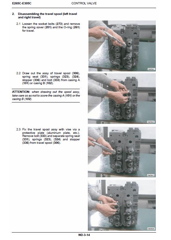New Holland E265c, E305c Tier 4 Excavator Service Manual