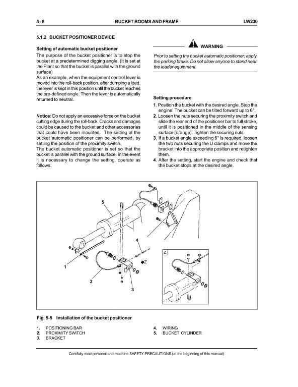 New Holland Lw230 Wheel Loader Service Manual