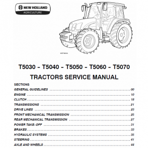New Holland T5030, T5040, T5050, T5060, T5070 Tractor Service Manual