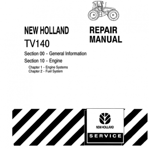 New Holland Tv140 Tractor Service Manual
