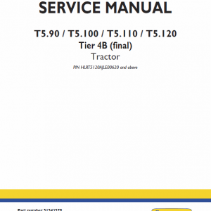 New Holland T5.90, T5.100, T5.110, T5.120 Tractor Service Manual