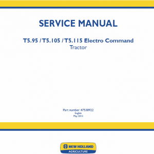 New Holland T5.95, T5.105, T5.115 Electro Command Tractor Service Manual