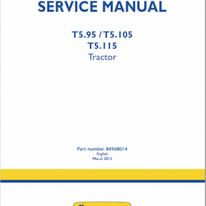 New Holland T5.95, T5.105, T5.115 Tractor Service Manual