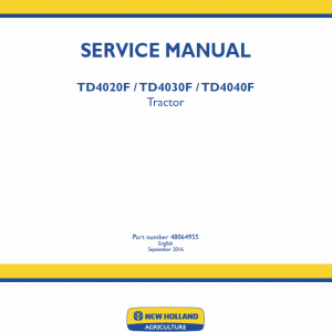 New Holland Td4020f, Td4030f,  Td4040f Tractor Service Manual