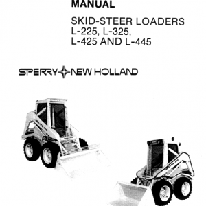New Holland L225, L325, L425, L445 Skidsteer Service Manual