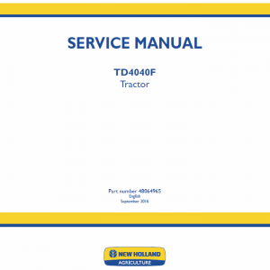New Holland Td4040f Tractor Service Manual