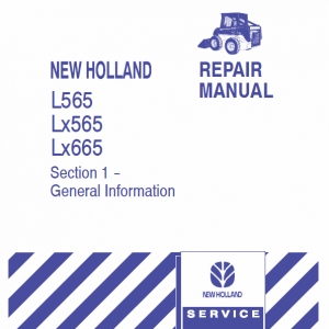 New Holland L565, Lx565, Lx665 Skidsteer Loader Service Manual