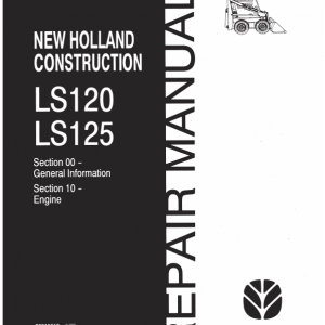 New Holland Ls120, Ls125 Skidsteer Service Manual