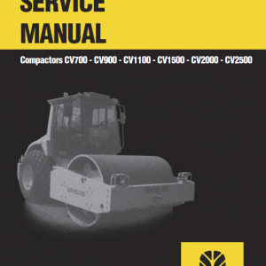 New Holland Cv700, Cv900, Cv1100 Compactor Service Manual