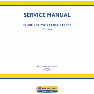 New Holland Tl60e, Tl75e, Tl85e, Tl95e Tractor Service Manual