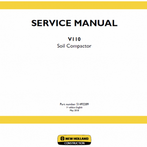 New Holland V110 Compactor Service Manual