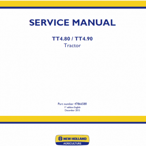 New Holland Tt4.80, Tt4.90 Tractor Service Manual