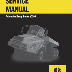 New Holland Ad250 Dump Truck Service Manual