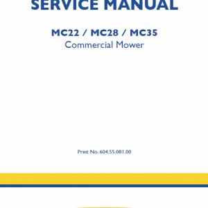 New Holland Mc22, Mc28, Mc35 Mower Service Manual