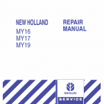 New Holland My16, My17, My19 Mower Tractor Service Manual