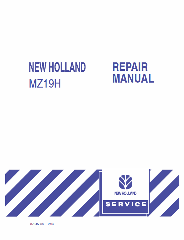 New Holland Mz19h Mower Tractor Service Manual