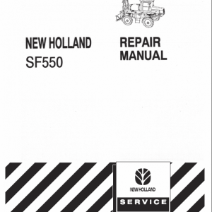 New Holland Sf550 Sprayer Service Manual