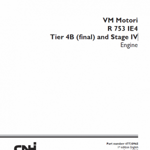 Cnh Vm Motori R 753 Ie4 Tier 4b And Stage Iv Engine Service Manual