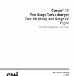 Cursor 13 Two Stage Turbocharger Tier 4b And Stage Iv Engine Service Manual