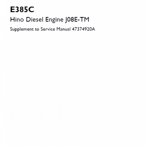 Hino Diesel Engine J08e-tm Service Manual