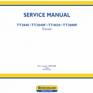 New Holland Tt3840, Tt3840f, Tt4030, Tt3880f Tractor Service Manual
