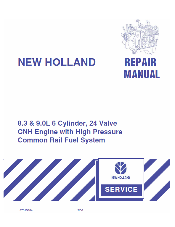 CNH 8.3 & 9.0L 6 Cylinder, 24 Valve Engine Manual