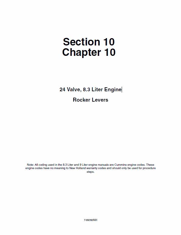 Cummins 24 Valve, 8.3 Liter Engine Service Manual