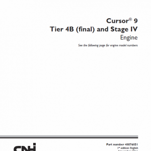 Cursor 9 Tier 4B Final and Stage IV Engine Service Manual