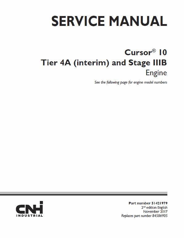 F3AFE613AA Cursor 10 Tier 4A Interim and Stage IIIB Engine Manual