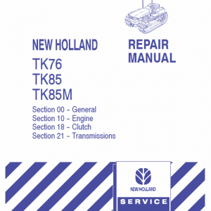 New Holland Tk76, Tk85, Tk85m Tractor Service Manual