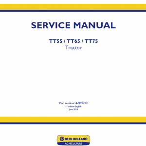 New Holland Tt55, Tt65, Tt75 Tractor Service Manual