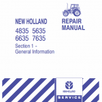 New Holland 4835, 5635, 6635, 7635 Tractor Service Manual