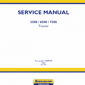 New Holland 5500, 6500, 7500 Tractor Service Manual