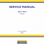 New Holland 8010, 9010 Tractor Service Manual