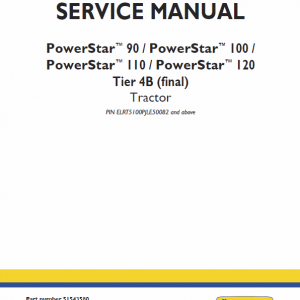 New Holland Powerstar 90, 100, 110, 120 Tractor Service Manual
