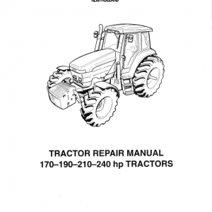 New Holland 170 Hp, 190 Hp, 210 Hp, 240 Hp Tractor Service Manual