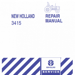 New Holland 3415 Tractor Service Manual