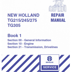 New Holland Tg215, Tg245, Tg275, Tg305 Tractor Service Manual