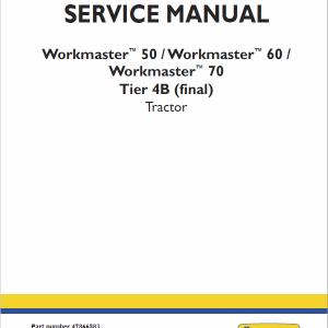 New Holland Workmaster 50, 60, 70 Tractor Service Manual