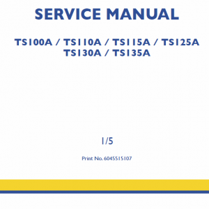 New Holland Ts125a, Ts130a, Ts135a Tractor Service Manual