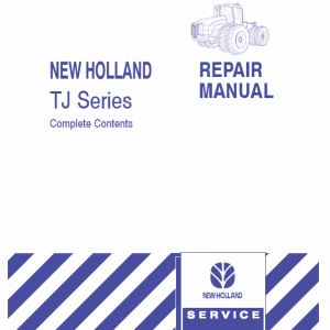 New Holland Tj275, Tj325, Tj375, Tj450 Tractors Service Manual