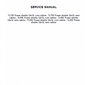 New Holland Tl60e, T75e, Tl85e, Tl95e Tractor Service Manual
